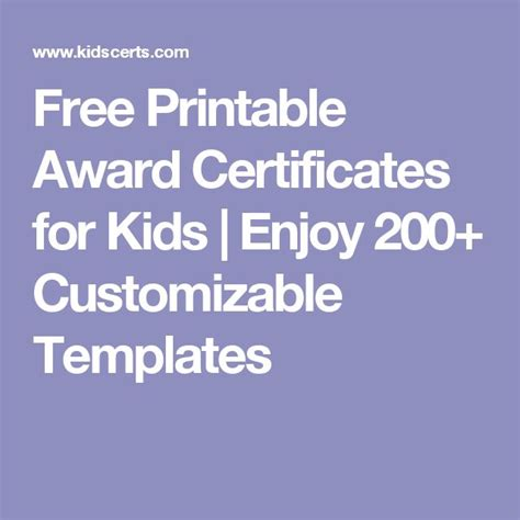 printable award certificates  kids enjoy