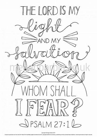 Psalm Bible Coloring Verse Sheet Colouring Printable