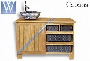 Meuble Bambou Salle De Bain : bathroom furniture cabana collection teak bamboo and mahogany bathroom vanities cabinets ~ Teatrodelosmanantiales.com Idées de Décoration