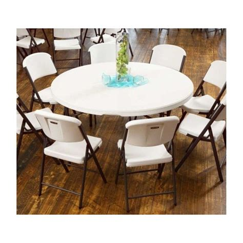 lifetime 4 tables 32 chairs set white