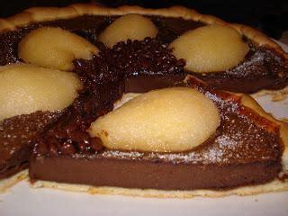 tarte poires chocolat pate sabl 233 e