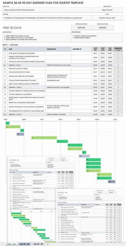 Plan Business Startup Excel 90 60 Sample