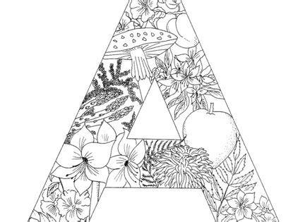 how to write a letter to the president letter a coloring page from alphabet with plants 20821