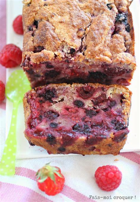 cake moelleux aux fruits rouges   lorange recette