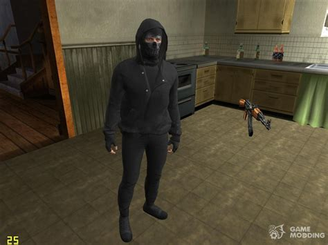 Skin Hd Gta V Online Guy In The Mask For Gta San Andreas