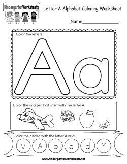 worksheets  kindergarten