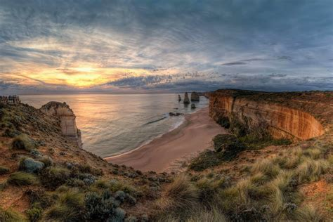 landscape, Nature, Ocean, Rocks, Sunset, The, Twelve ...