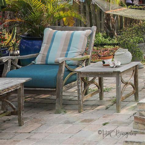 steps  refinishing teak outdoor furniture hobungalow
