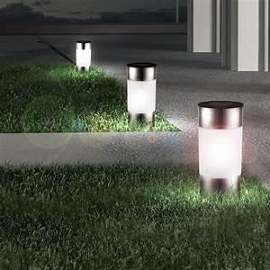 Lichter Für Den Garten : 12 led solar lampen edelstahl au en garten weg beleuchtungen steck leuchten lichter strahler ~ Sanjose-hotels-ca.com Haus und Dekorationen