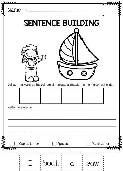 june sentence building sentence building kindergarten