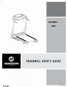 Horizon Fitness Treadmill User U0026 39 S Guide T401 User Manual