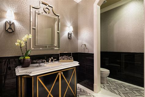 Modern Black Bathroom Ideas by 23 Black And Gold Bathroom Designs Decorating Ideas