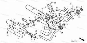 Honda Motorcycle 2007 Oem Parts Diagram For Exhaust