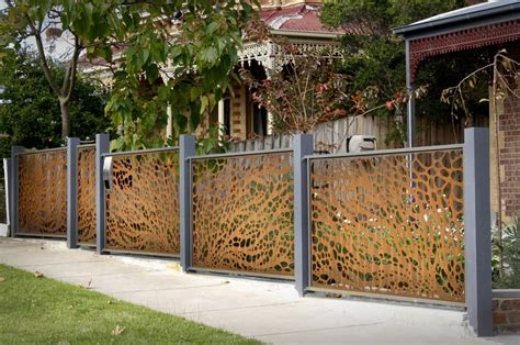 Decorative Garden Fence Posts by Decorative Garden Fencing Metal Fence Ideas Fascinate