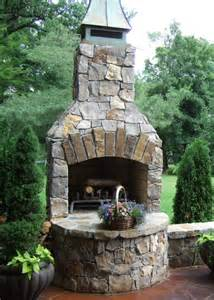 Small Outdoor Stone Fireplace