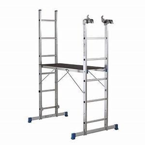 Echelle D Escalier : chelle d 39 escalier multiposition plateforme mac allister ~ Premium-room.com Idées de Décoration