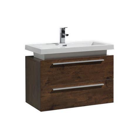 Modern Lux 32 Quot Rose Wood Wall Mount Modern Bathroom Vanity