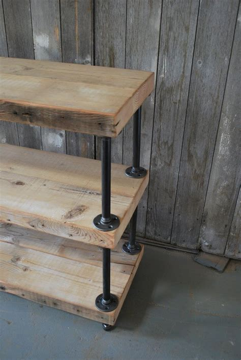 Diy Console Table With Pipe Legs   WoodWorking Projects
