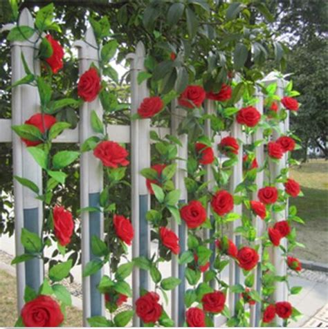 artificial garland silk flower vine home wedding