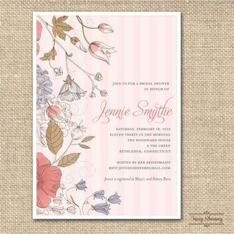 vintage tea bridal shower invitations bridal shower
