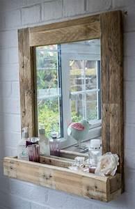 Rahmen Für Spiegel Selber Machen : spiegel f r das bad mit rahmen palleten deko ideen diy ~ Lizthompson.info Haus und Dekorationen