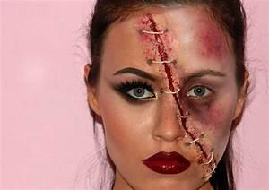 Zombie Schminken Bilder : 13 originelle halloween gesichter schminken mit anleitungen ~ Frokenaadalensverden.com Haus und Dekorationen