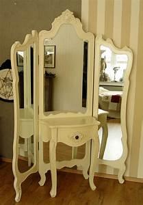 Vintage Spiegel Weiß : vintage spiegelkonsole schminktisch weiss landhausstil ebay ~ Indierocktalk.com Haus und Dekorationen