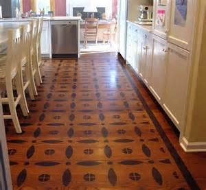 kitchen stencil ideas kitchens powder rooms painted wood floor