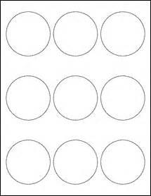 Label Templates 30 Per Sheet 2 5 Quot Circles 2 1 2 Inch Labels Ol2683 2 5 Quot Circle