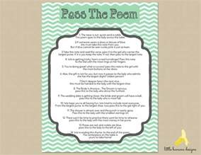 The Bridal Shower Poem Game Pass