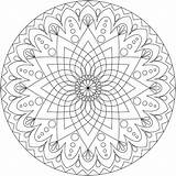 Mandala Coloring Simple Detailed Therapy sketch template