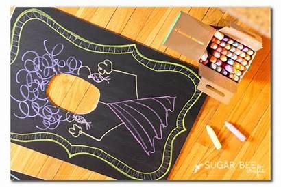 Hole Chalkboard Face Diy Chalk Board Cut