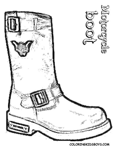 leather boot coloring page  printable pages sketch