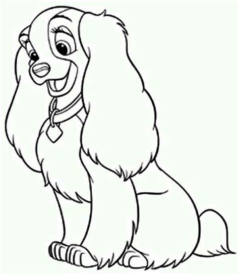 disney lady  dog coloring page  printable