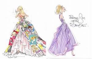 Barbie Fashion Illustrations for NY Fashion Show
