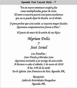 Spanish wedding invitation wording theruntimecom for Wedding invitations phrases in spanish