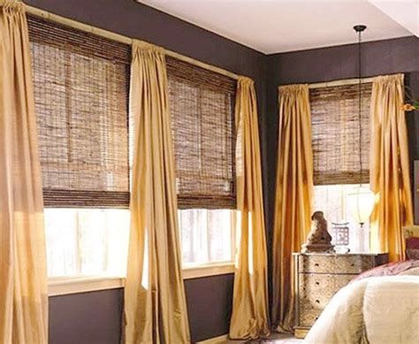 Bamboo Roman Shades  Casual Cottage