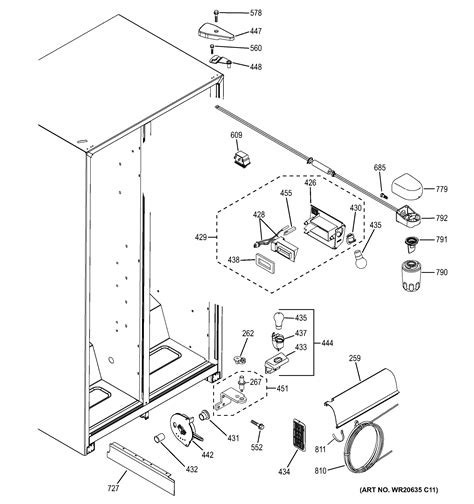 ge refrigerator ice maker parts diagram wiring diagram list