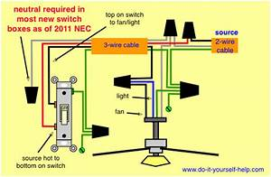 Wiring Diagram  Switch Loop Ceiling Fan