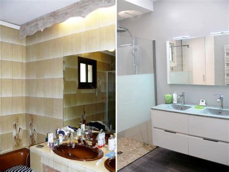 ou acheter sa cuisine avant après une salle de bains démodée rénovée du sol au plafond
