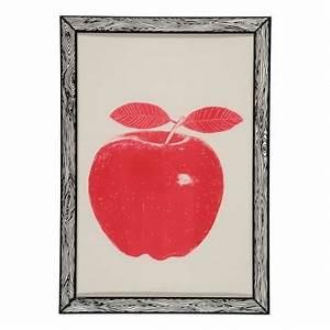 Pomme Rouge Deco : poster pomme rouge red apple the prints by marke newton ~ Teatrodelosmanantiales.com Idées de Décoration