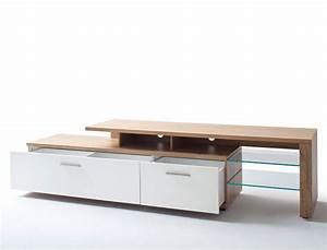 Lowboard Weiß Eiche : lowboard nina 8 wei crack eiche 238x56x50 cm tv m bel tv schrank wohnbereiche wohnzimmer tv ~ Eleganceandgraceweddings.com Haus und Dekorationen