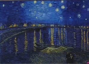 Vendita quadro notte stellata sul Rodano Francesca Rosati PitturiAmo®