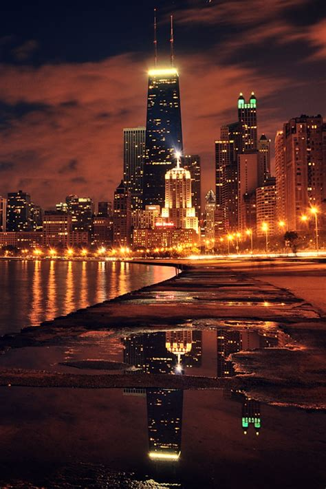 chicago city lights pictures   images
