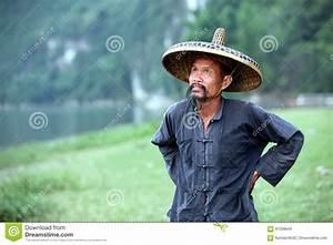 GUANGXI - JUNE 18: Chinese Man In Old Hat In Guangxi ...