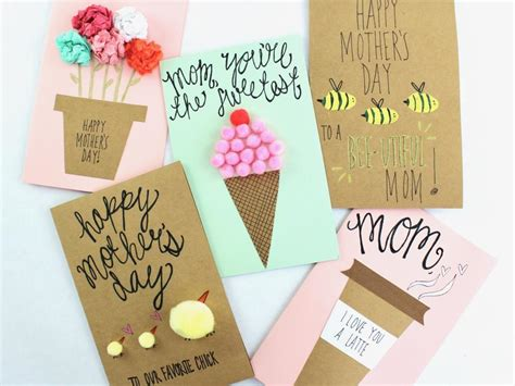minute diy mothers day cards hgtv