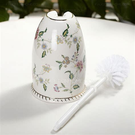 curtain curtain rods for corner floral white ceramic toilet brush holder freestanding