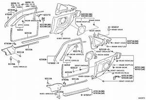 1997 Toyota Supra Clip  Front Pillar Garnish  Body