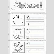 Alphabet & Letter Sounds Review No Prep  My Tpt Products  Alphabet, Letter Sounds, Writing