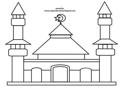 gambar gambar masjid hitam putih bliblinews